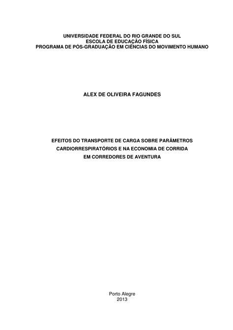 (PDF) Efeito do Transporte de Carga Sobre Parâmetros