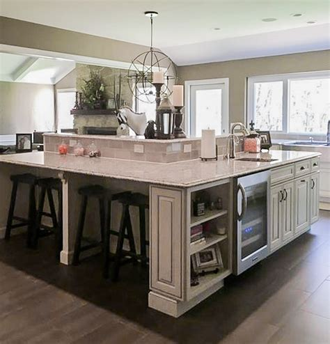 custom kitchen islands with seating custom kitchen built in island seating traditional kitchen st louis by beyond storage