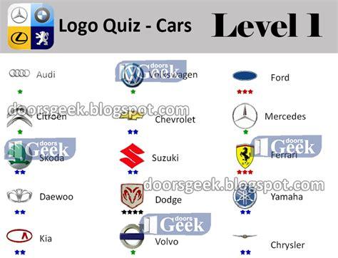 Auto Logos Quiz 2 0 Level 24 by Logo Quiz Cars Level 1 Answers Doors Geek