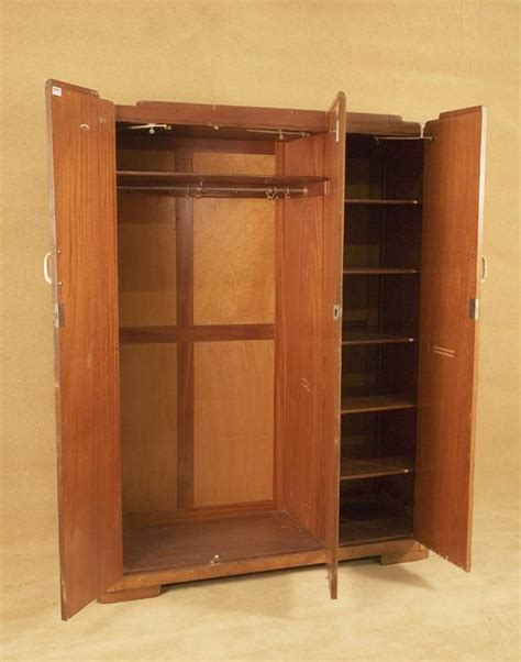 mens armoire vintage acid stained art deco men s wardrobe