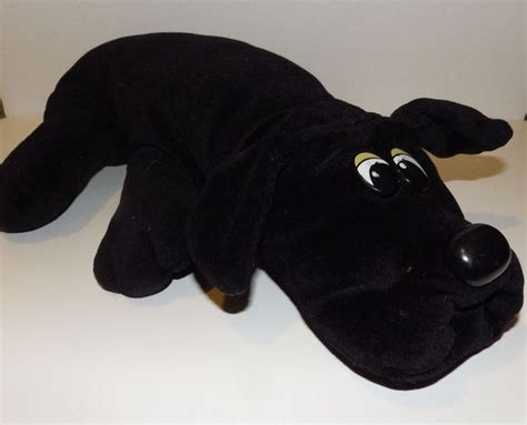 pound puppies plush vintage black pound puppy plush stuffed animal canine size 1980 s toys