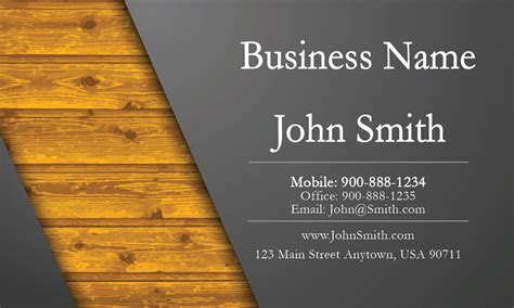 Calling Card Template Construction gray construction business card design 1501011