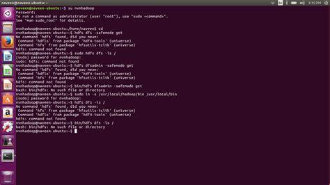 tutorial ubuntu command line hadoop commands not working any where in ubuntu 16 04