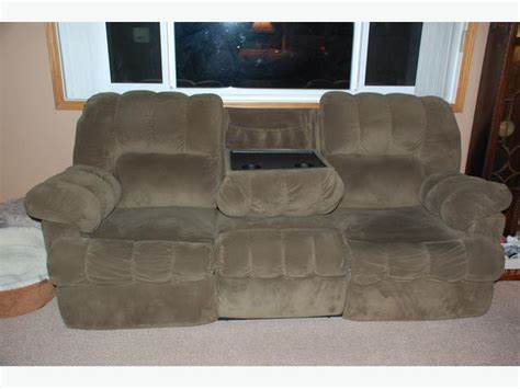 reclining sofa with fold table reclining 3 seat sofa with fold table central saanich