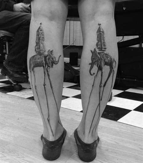 elephant tattoo long legs 50 salvador dali elephant tattoo designs for men