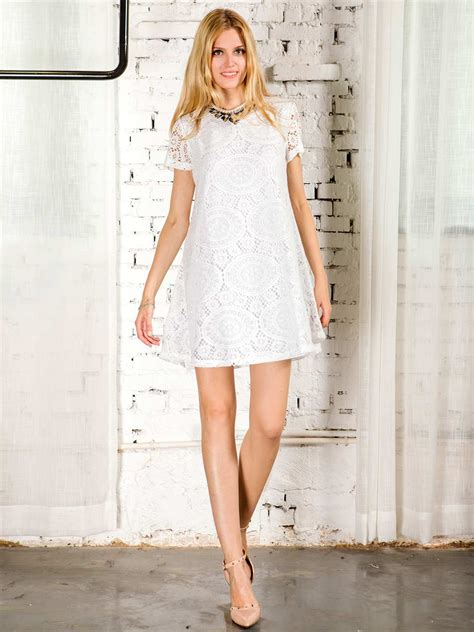 Dress 15 081395 Limited white lace sleeve a line dress thanks giving day
