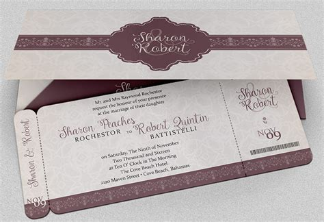 Boarding Pass Invitation Templates   Free PSD Format Download   Creative Template