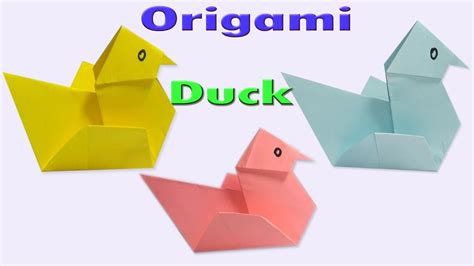 Easy Origami Duck - how to make an easy origami duck paper duck tutorials