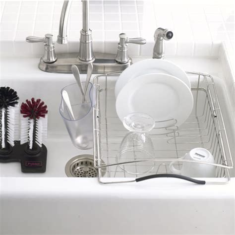 Kitchen Sink Gadgets Polder Stainless Steel Dual Purpose Dish Rack The Container Store
