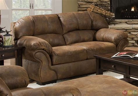 microfiber couch and loveseat sets pinto tobacco finish microfiber living room sofa and