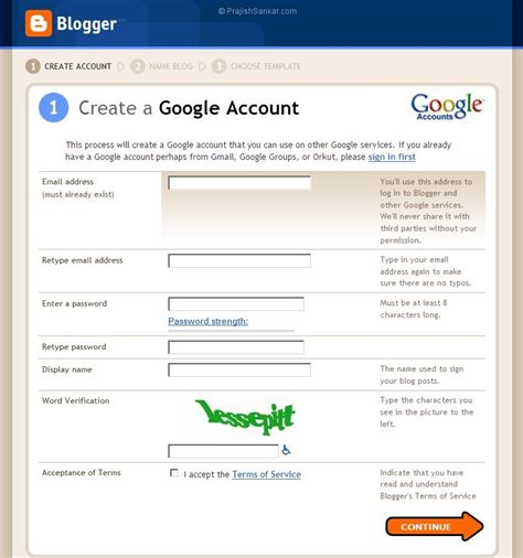 blogger account related keywords suggestions for new google account create