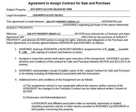 Reiflips Com A New Age Real Estate Investing Blog Wholesale Purchase Agreement Template