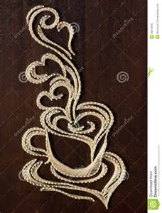 coffee cup string art royalty free stock images image