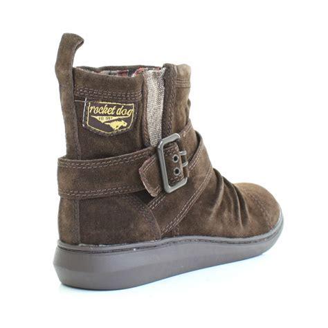 rocket ankle boots womens rocket mint tribal brown flat suede