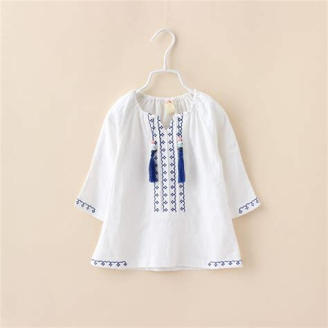 Design Clothes Wholesale | girls white blouses with tassels toddler baby kids fashion