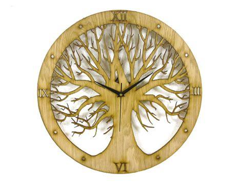 clock made of clocks tree design laser cut clock