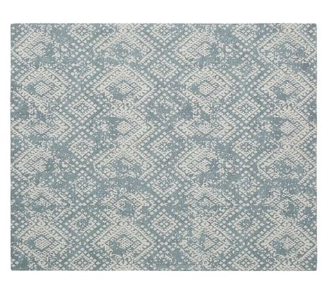 synthetic rugs zahara synthetic rug blue pottery barn