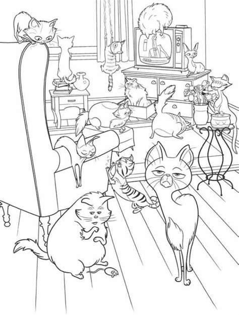 gatos em pets  filme colorirorg
