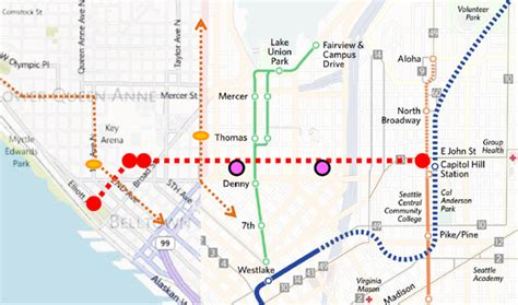 seattle map monorail a gondola for seattle studies