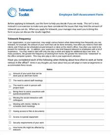 Connected Carers Assessment 7 Employee Self Assessment Sles Exles In Word Pdf