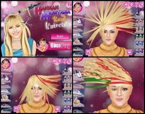 hannah montana haircut games hannah montana real haircuts free games flash ghetto
