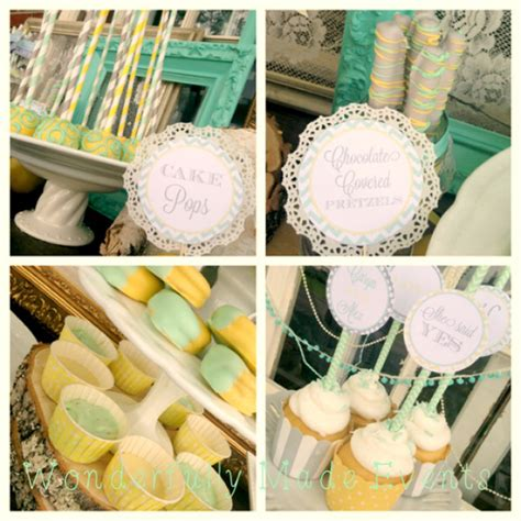 Vintage Bridal Shower Decorations by Vintage Baby Shower With Mint And Gray Baby Shower Ideas Shops