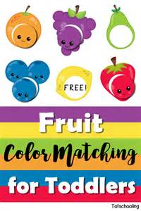 color activities for toddlers fruit color matching for toddlers totschooling toddler