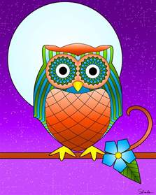 owl colors free owl template coloring pages