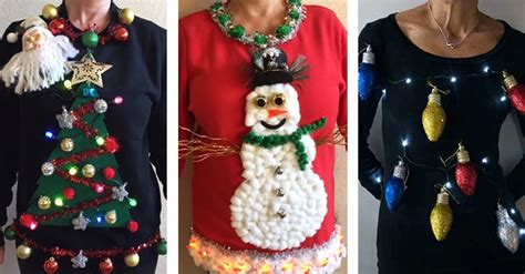 it s ugly christmas sweater time 3 tree mendously tacky