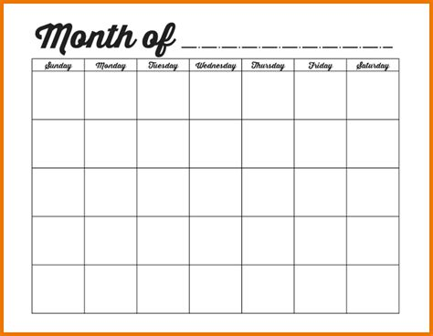 monthly calendar template printable calendar monthly template calendar template 2016