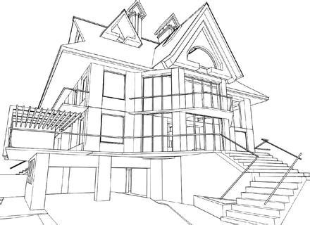 house 3d drawing building contractors kildare dublin modern house drawing perspective floor plans design