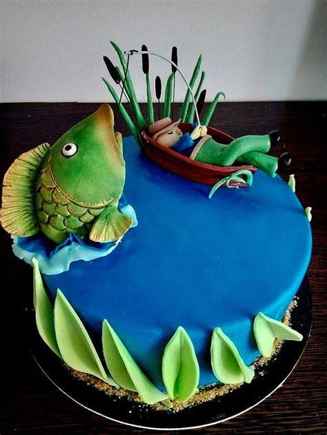 fishing cake cake  nicoleta cakesdecor