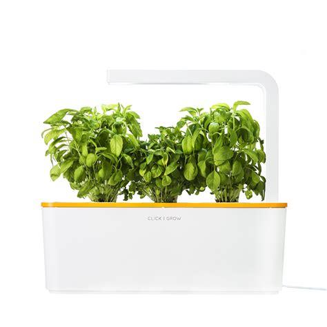 Herb Garden Starter Kit by Smart Herb Garden Starter Kit Orange Click Grow