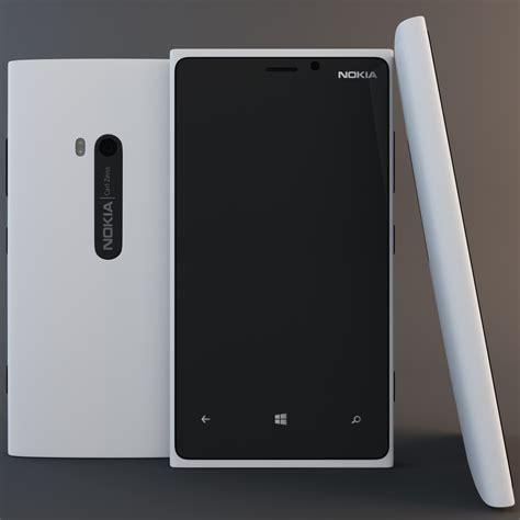 White Nokha white nokia lumia 920 3d model