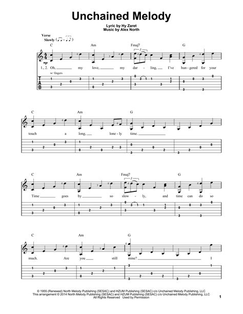 printable lyrics to unchained melody unchained melody sheet music direct