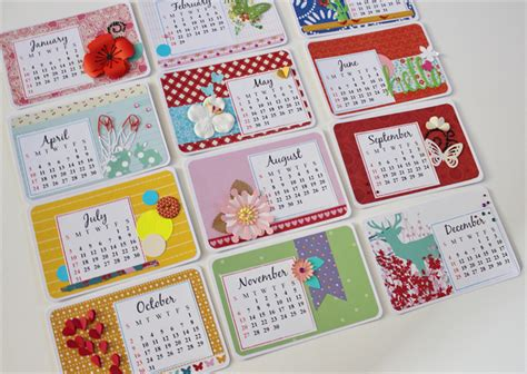 how to make handmade calendar personalised 2016 handmade desk calendar floral calendar