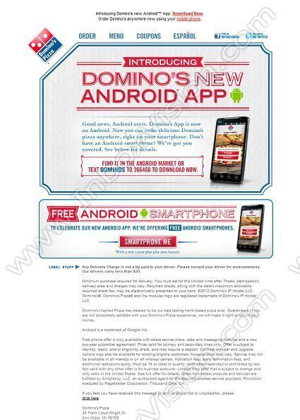 domino pizza email 20 best email designs twitter images on pinterest
