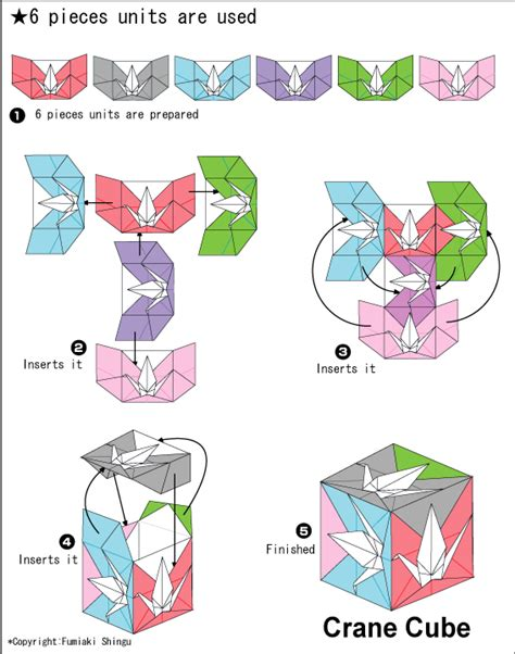 How To Fold An Origami Cube - origami crane cube by fumiaki shingu origami