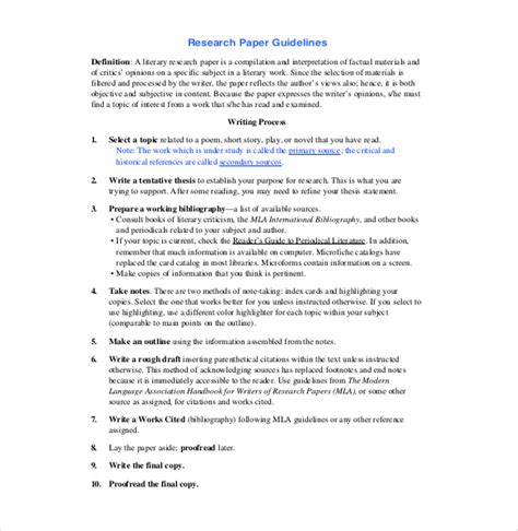 custom research paper outline example resume