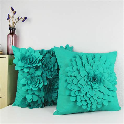 Cushions Handmade - 2015 canvas handmade flowers accent decorative throw