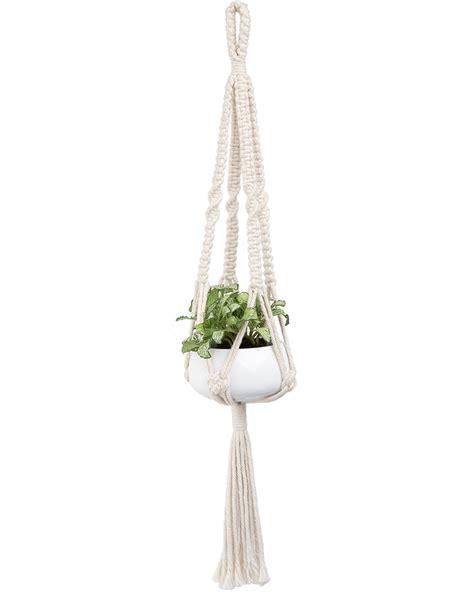 Macrame Hanging Basket - mkono macrame plant hanger hanging planter basket cotton