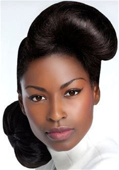 1950 african american hairstyles updo bone jewelry and african american hairstyles on