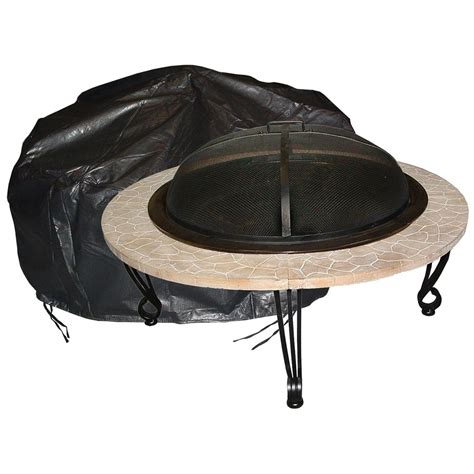 Fire Sense Large Outdoor Round Fire Pit Vinyl Cover Outdoor Firepit Cover