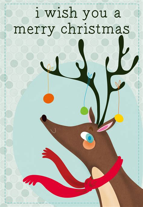 reindeer  ornaments christmas card   island
