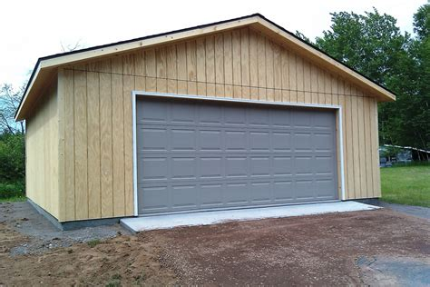 Car Garage Types by Unpainted T1 11 Two Car Garage Economy Garages Usa Inc