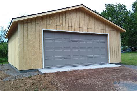 T De Garage unpainted t1 11 two car garage economy garages usa inc