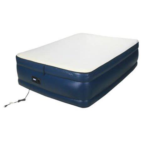 airtek raised memory foam full size air bed  built