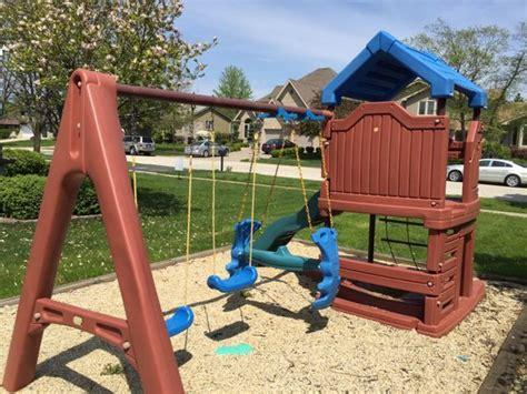 swing set with sandbox little tikes play house and swing set with sandbox games