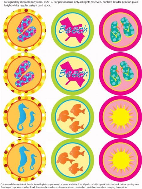 printable summer party decorations craftionary