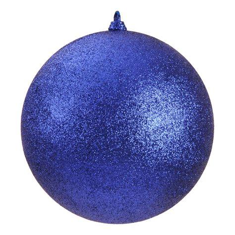 340mm glitter baubles blue dzd